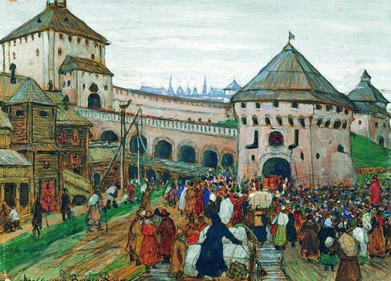 Apollinarius Mikhailovich Vasnetsov. Old Moscow