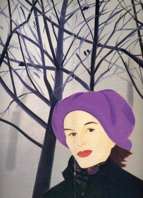 Alex Katz. Purple hat
