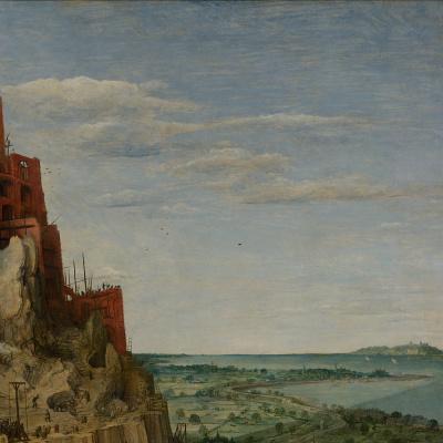 Питер Брейгель Старший. Вавилонская башня. Фрагмент 5. Пейзаж