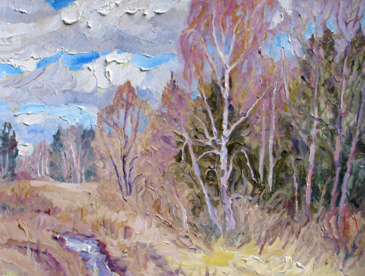 Alexey Vladimirovich Konstantinov. On the edge of the forest in April
