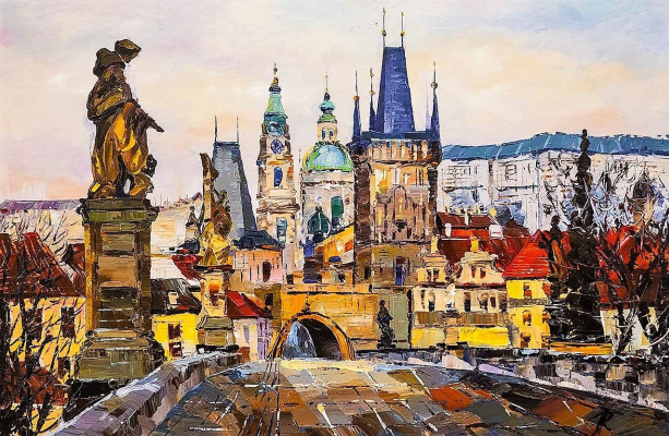 Jose Rodriguez. The Charles Bridge. Legends of Old Prague