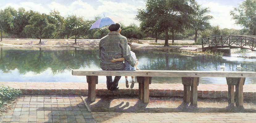 Steve Hanks. Looking at the water
