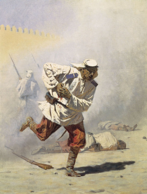 Vasily Vasilyevich Vereshchagin. Mortally wounded