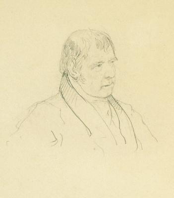 Alexander Pavlovich Bryullov. Portrait of W. Scott. 1829