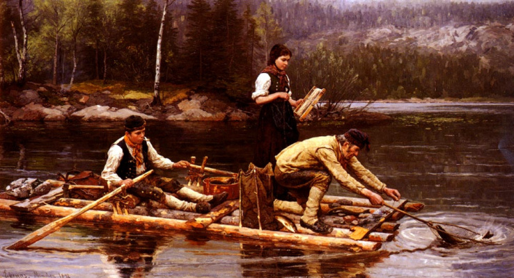 Ян Экенаес. Ловля рыбы