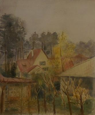 Alexandra Antonovna Gladun. View from the window