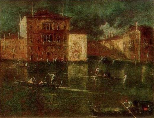 Francesco Guardi. Palazzo Balbi near the Grand Canal in Venice