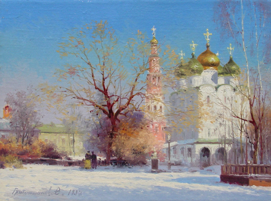 Vasily Ivanovich Gribennikov. View of the Smolensk Cathedral of the Novodevichy Monastery