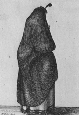 Венцель Холлар. Кельнская горожанка со спины