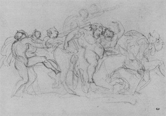 Théodore Géricault. Procession of Silena