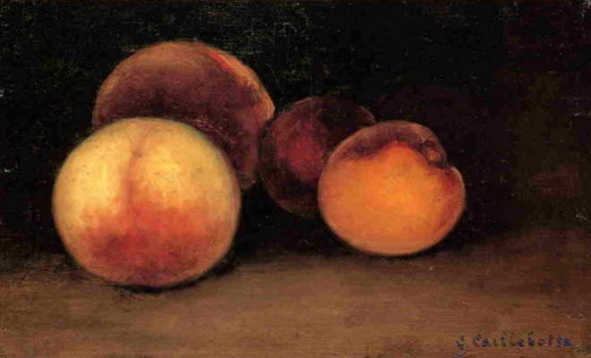 Gustave Caillebotte. Peaches, nectarines and apricots