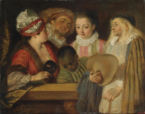 Antoine Watteau. The actors of the French theater