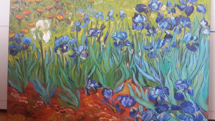 Anna Akchurina. Van Gogh.Irises.Copy