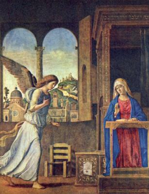 Giovanni Battista Cima da Conegliano. The Annunciation