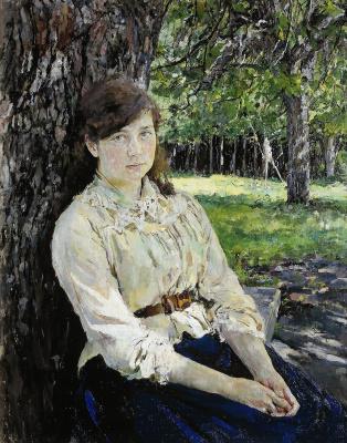 A girl, illuminated by the sun. Portrait Of M. Ya. Simonovich