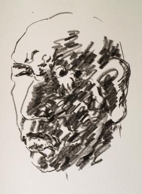 Alexander Ocher Kandinsky-DAE. Portrait of a man