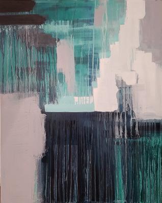 Larissa Uvarova. Abstraction painting WE are etrenity