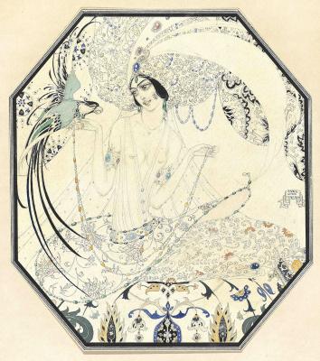 Иванов Павел Петрович (Paul Mak). Гурия с птицей в раю. 1925
