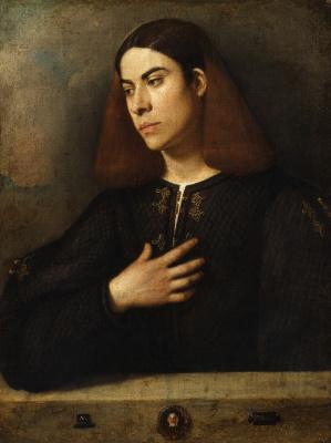Giorgione. Portrait of a young man (Antonio Brockardo)