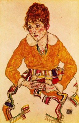 Egon Schiele. Portrait of the artist's wife