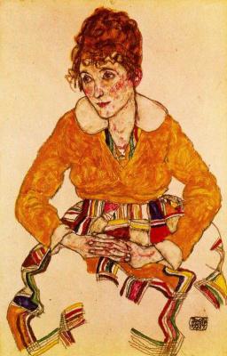 Egon Schiele. Portrait of the artist's wife