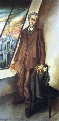 Otto Dix. Portrait of poet Ivar van Lucena