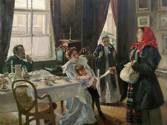 Vladimir Egorovich Makovsky. Two mothers. Mother and foster native