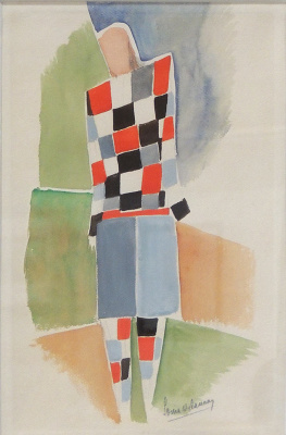 Sonia Delaunay. A sketch of a man's suit