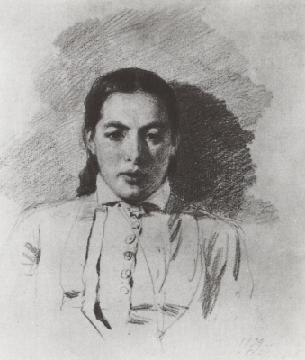 Vasily Dmitrievich Polenov. Portrait of Natalia yakunchikovoy, wife Polenov