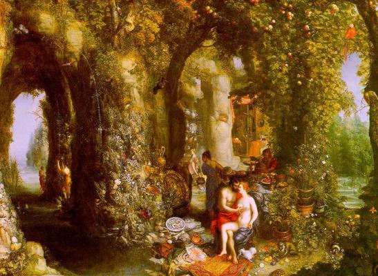 Jan Bruegel The Elder. Odysseus from the nymph Calypso