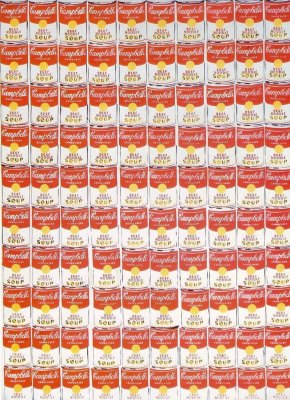 """Andy Warhol. One hundred cans of soup """"Campbell"""""""
