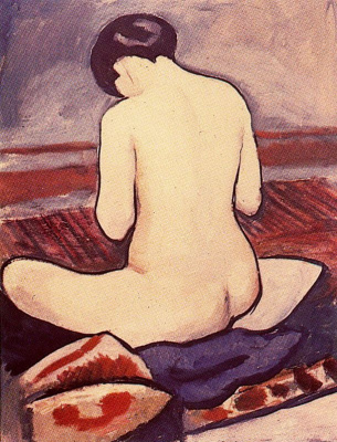 August Macke. Nude with head bowed