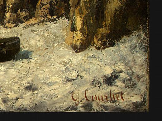 Gustave Courbet. Boats on beach, étretat. Фрагмент4
