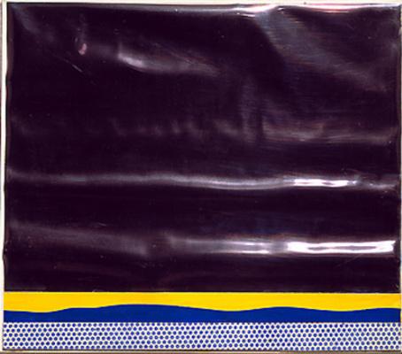 Рой Лихтенштейн. Желтый пейзаж