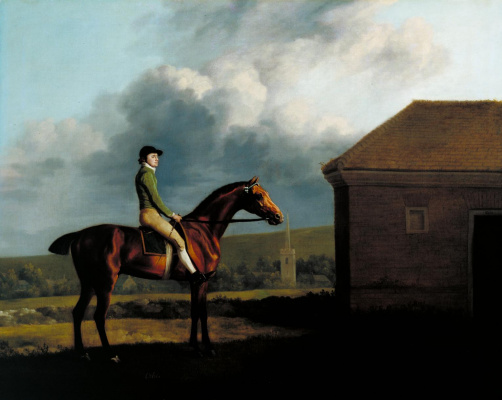 George Stubbs. Portrait of jockeys John Larkin
