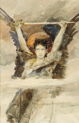 Wilhelm Kotarbinsky. The Archangel Michael. Sketch
