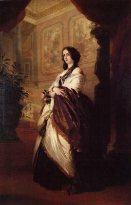 Franz Xaver Winterhalter. Portrait of herzogin Harriet Sutherland-Leveson-Gower