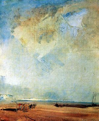 Richard Parkes Bonington. View of the coast in Normandy