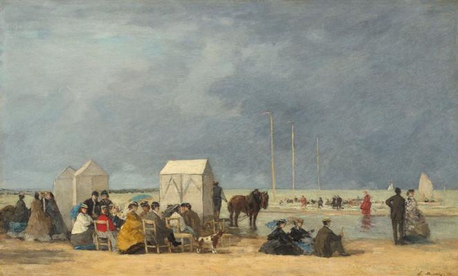 Eugene Boudin. Bathing time in Deauville