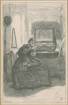 John Everett Millais. The Angel Of Light. Illustration for the works of Anthony Trollope