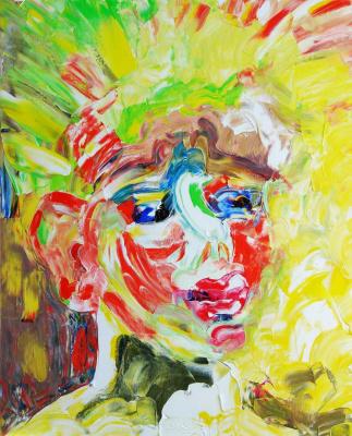 Kandinsky-DAE. Sunny boy. (Sasha son of the artist). Oil on canvas, 50-40, 2005