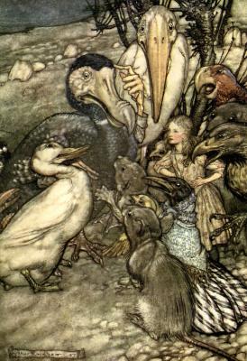 """Артур Рэкхэм. Иллюстрация к сказке """"Алиса в Стране чудес"""""""
