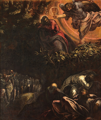 Jacopo (Robusti) Tintoretto. Praying for the cup. Christ in the Garden of Gethsemane