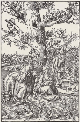 Lucas Cranach the Elder. Holy family on the flight into Egypt