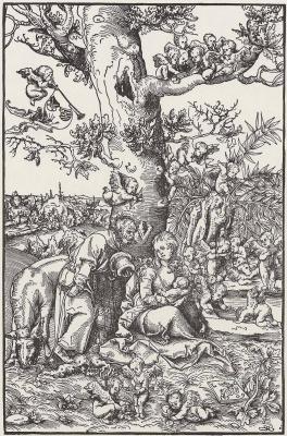 Lucas Cranach the Elder. Holy family on the flight into Egypt