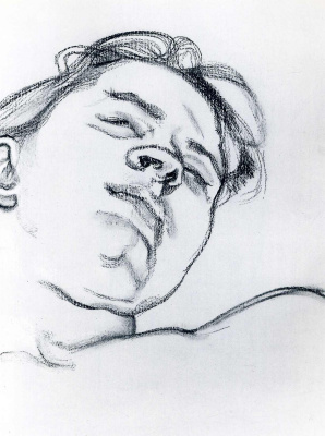 Lucien Freud. Sleeping girl