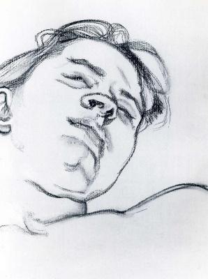 Люсьен Фрейд. Спящая девушка