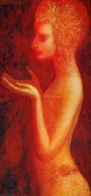 Ernst Fuchs. Portrait Of Christina