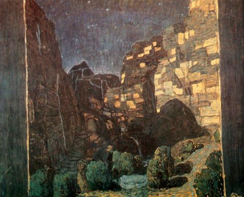 "Alexander Yakovlevich Golovin. Design G. D'annunzio ""Dead city"""