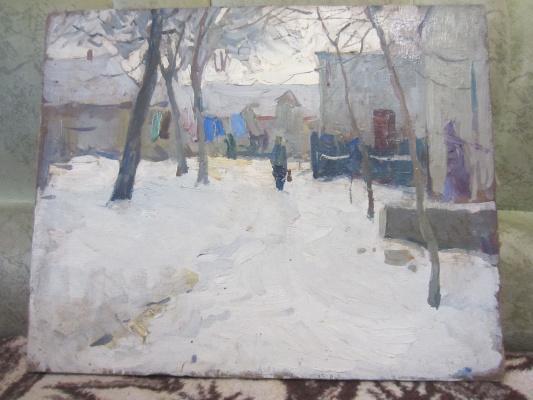 Игорь Алексеевич Маляренко. Мелитопольский дворик 1960г